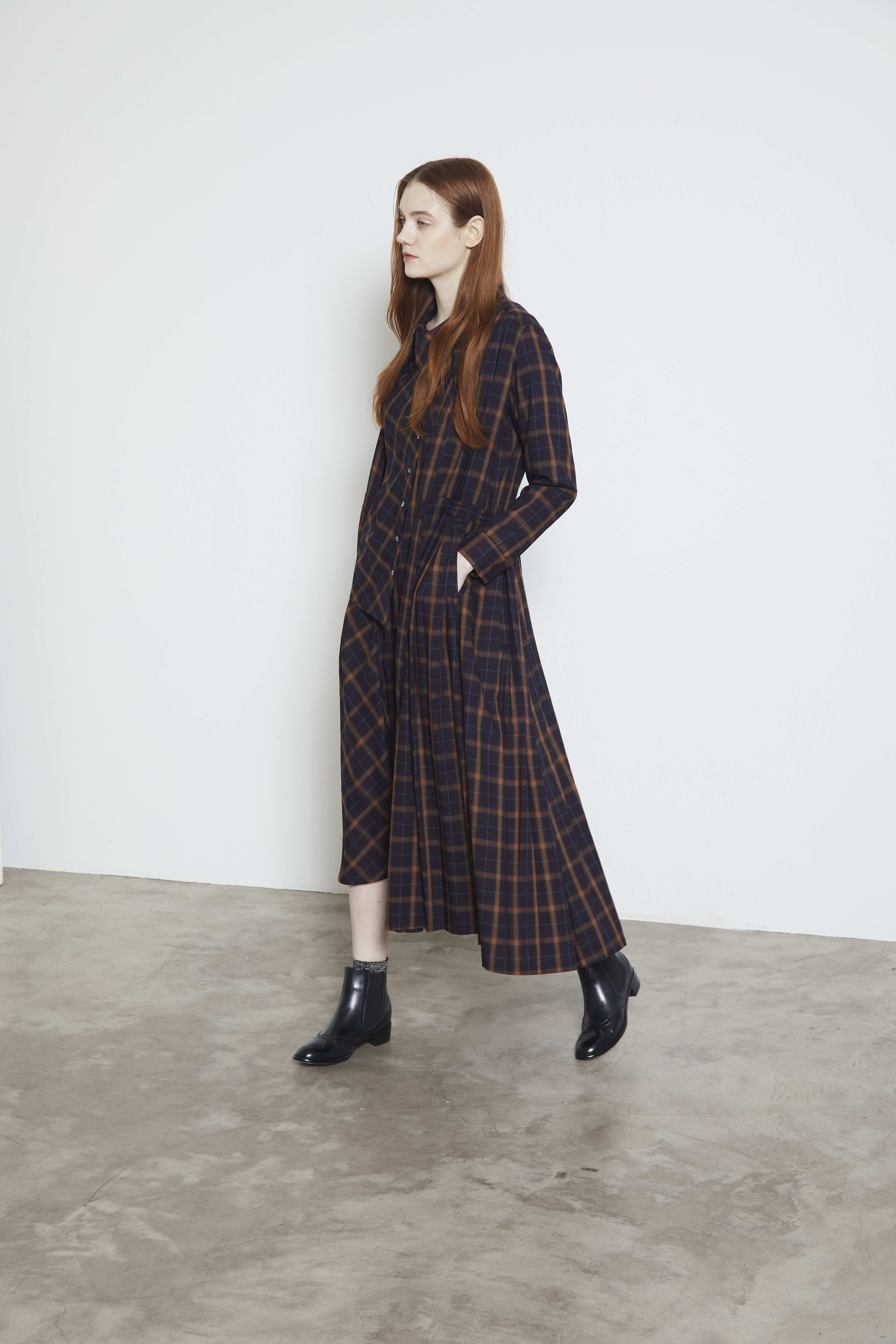 【2021AW先行受注アイテム】TARTAN CHECK FLAIR SKIRT