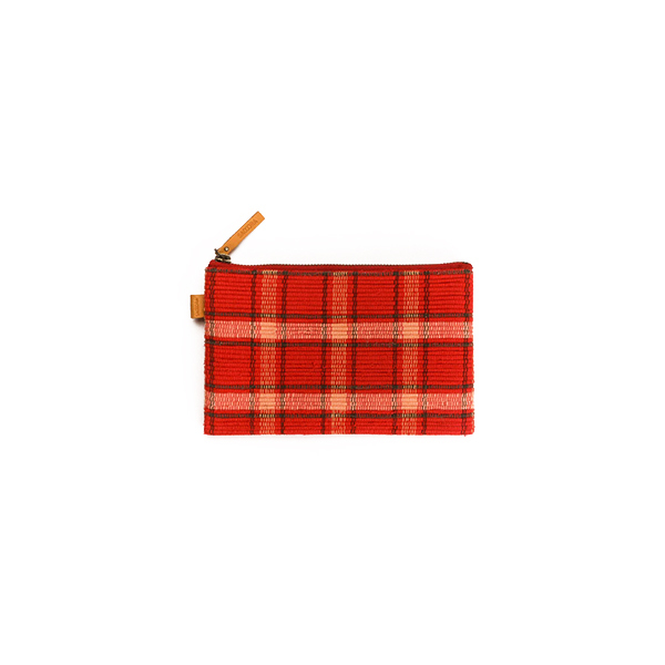POUCHI SMALL / Red × Beige : 2110100200106