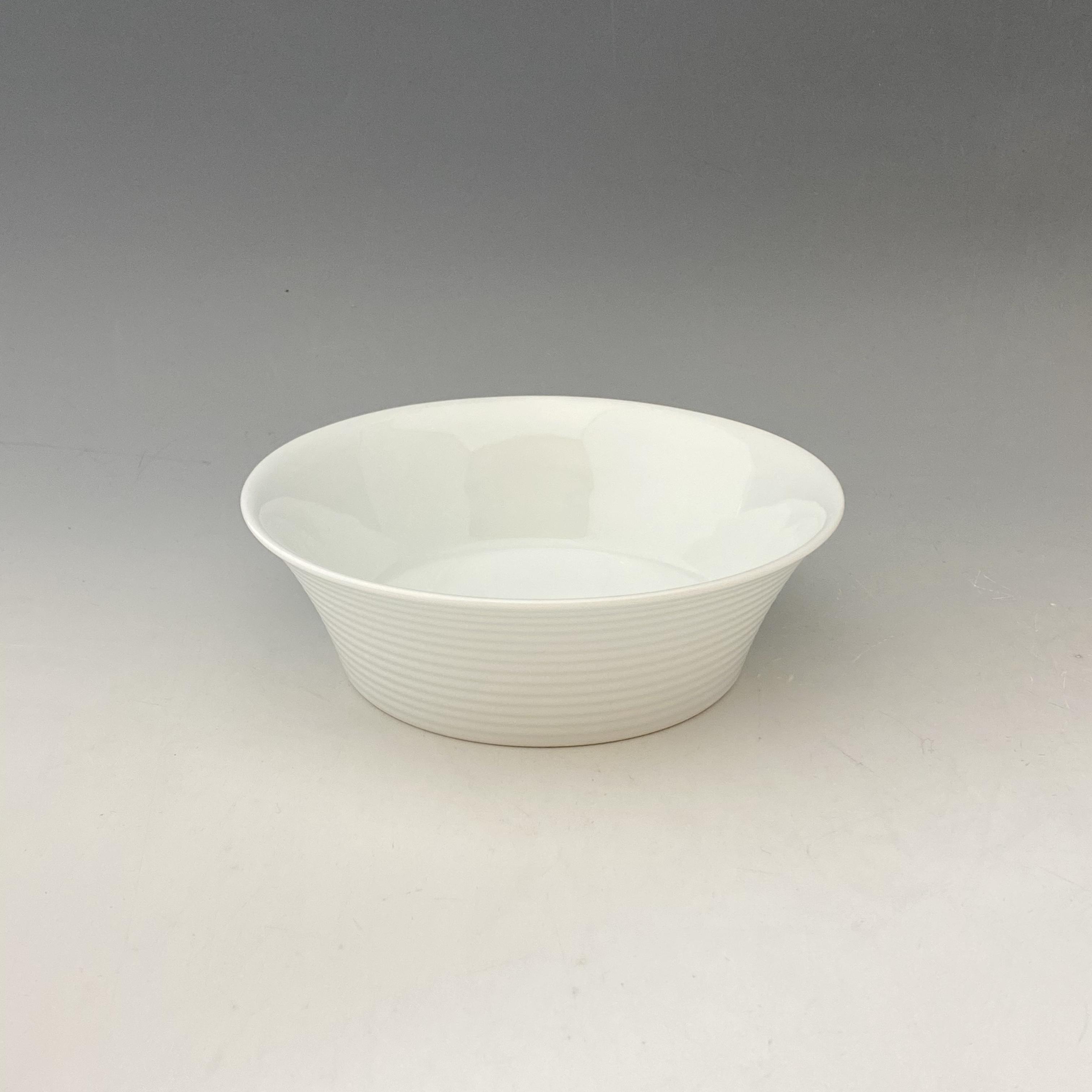 【中尾恭純】白磁線段碗(台)