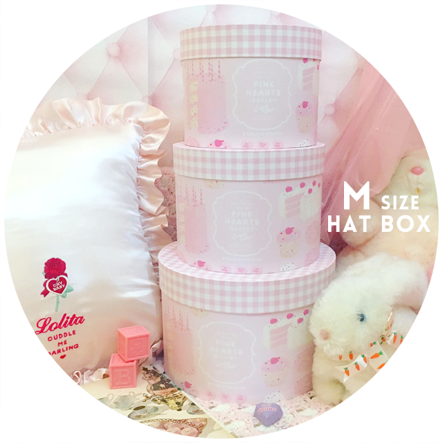 PINK HEARTS BAKERY Hat Box(M size)