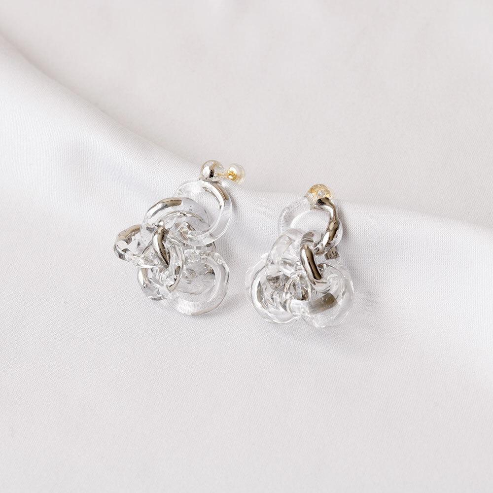 surge ring pierce platinum (pair)