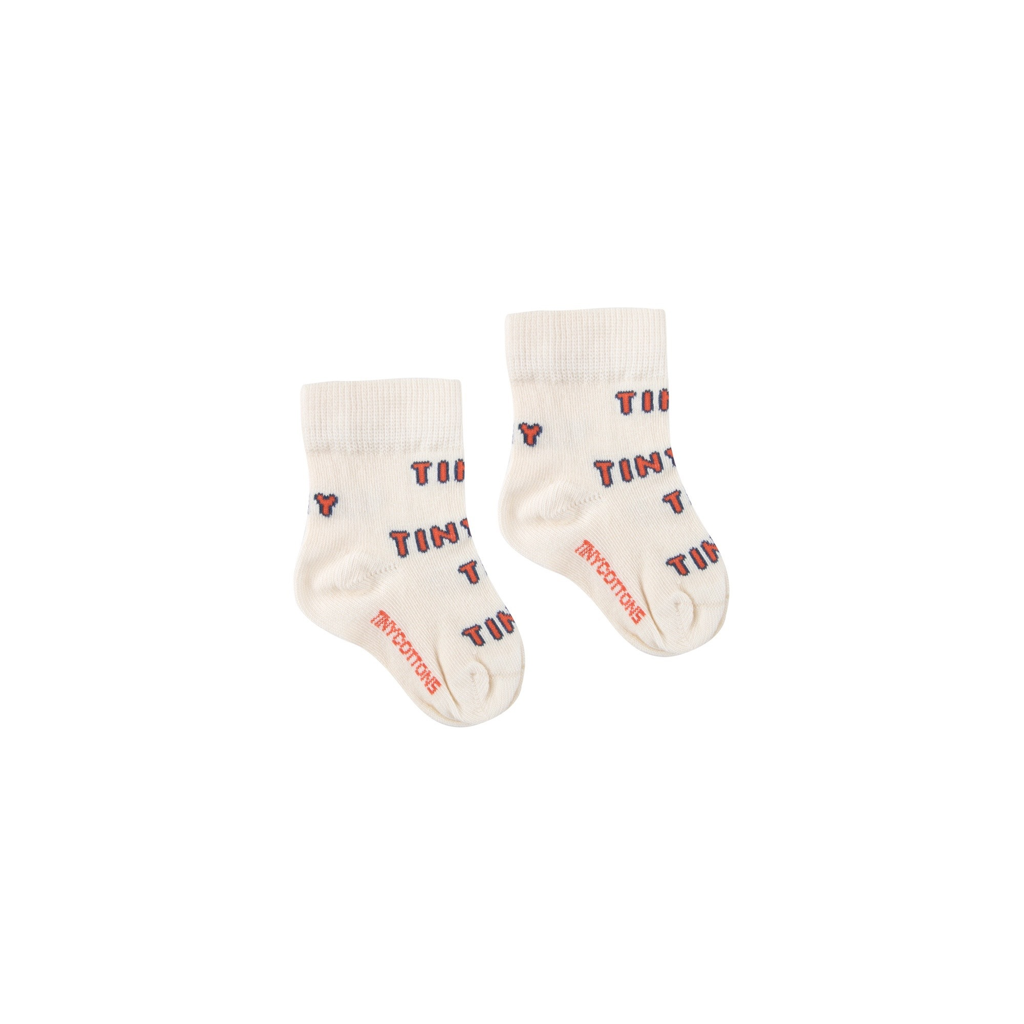 《TINYCOTTONS 2020SS》TINY MEDIUM SOCKS / light cream × red / 6-12M