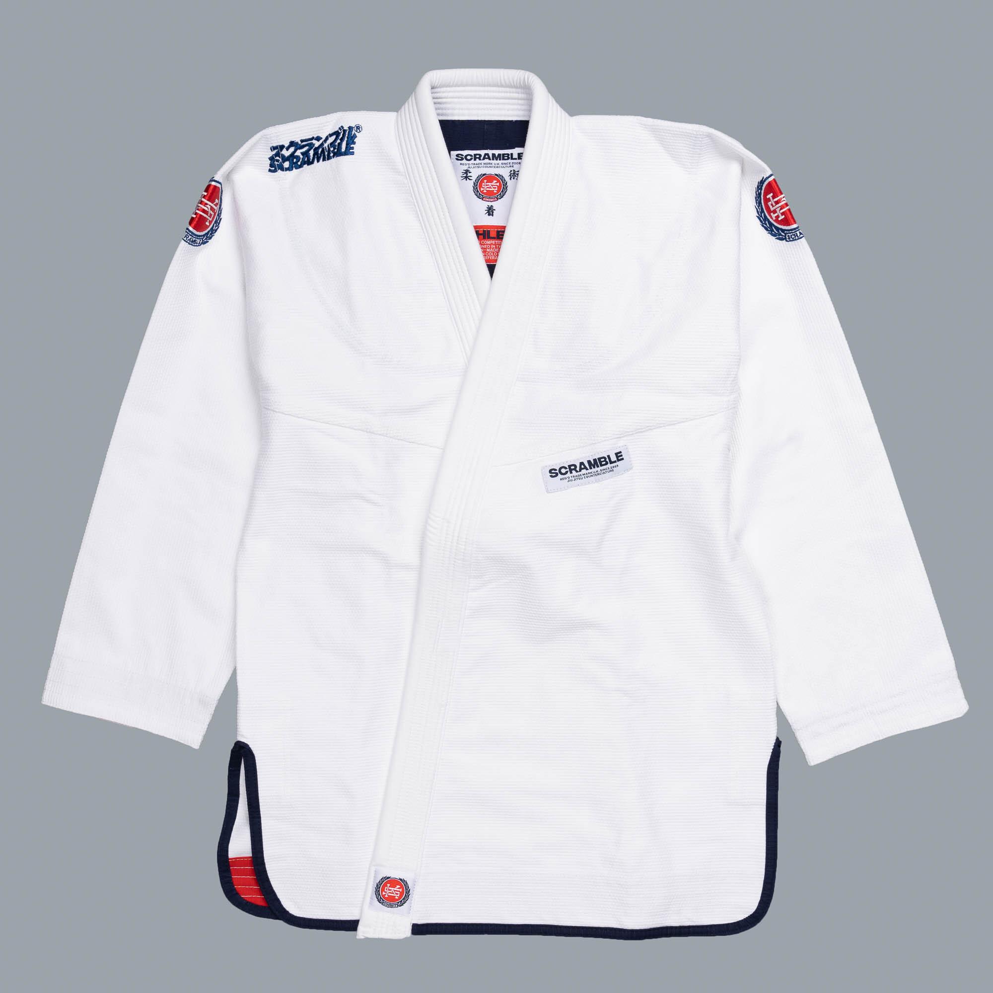予約注文受付中です!!!  SCRAMBLE ATHLETE ホワイト ブラジリアン柔術衣