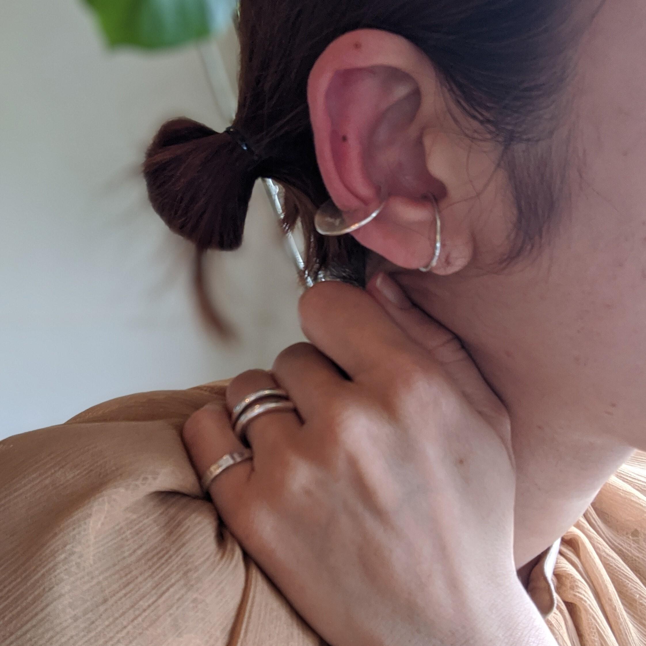 【 jomathwich 】silver earcuff  /  E-70 Msize シルバーイヤーカフ