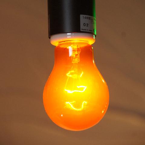 E26 40W 透明カラーランプ オレンジ ※電球のみ