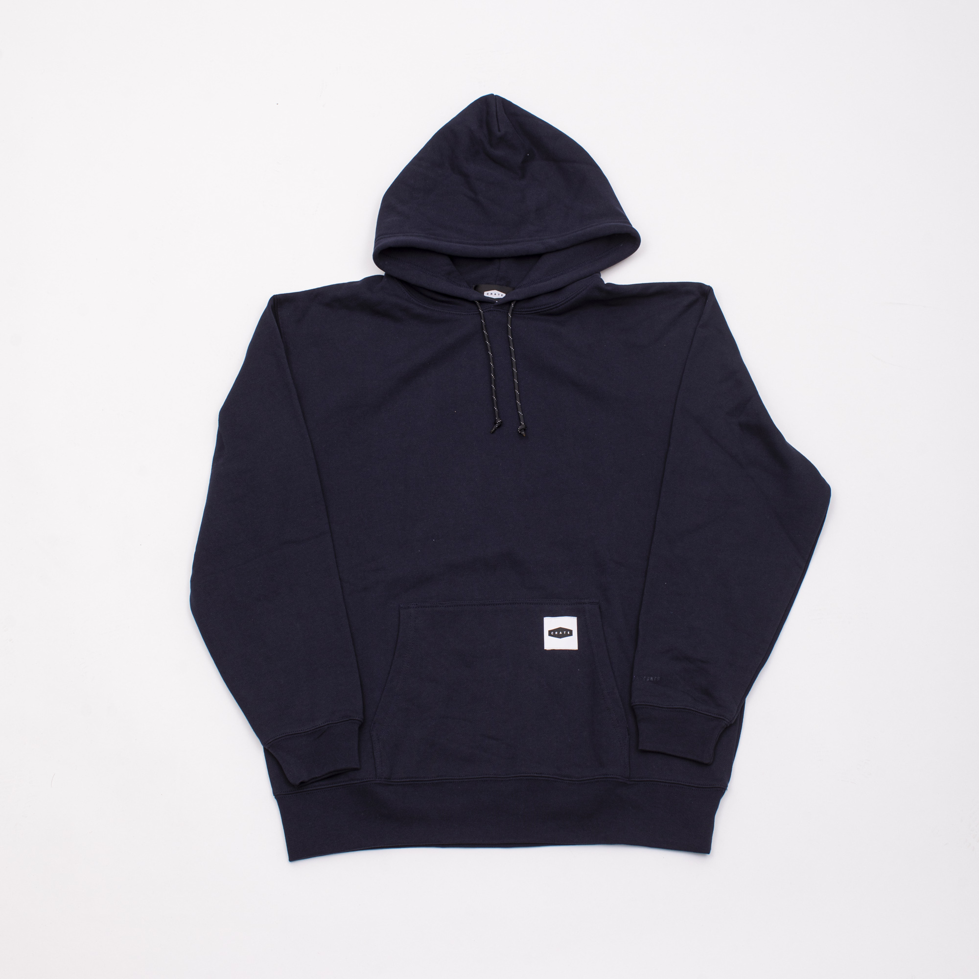 CRATE BOX PATCH SWEAT PARKA NAVY