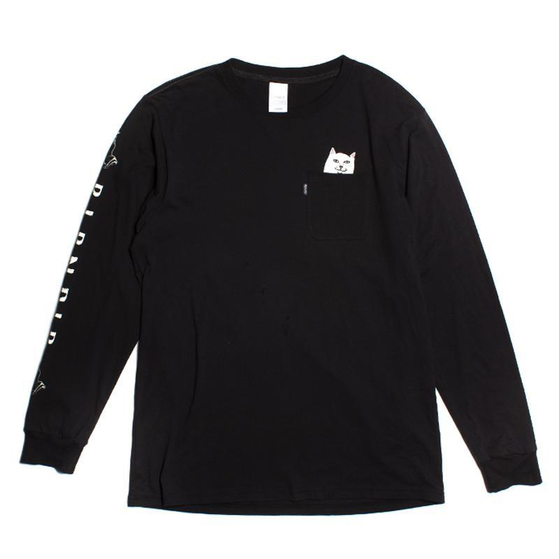 RIPNDIP (リップンディップ) |LORD NERMAL POCKET L/S TEE (Black)