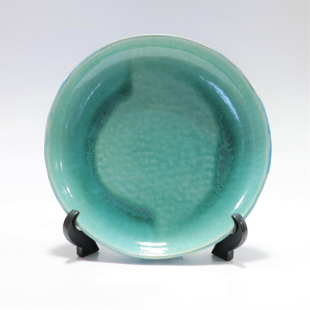 Ocean Blue 玉城焼 丸皿