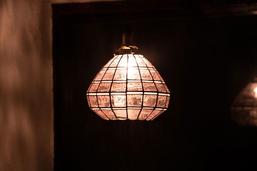 春かすみ(ステンドグラスの吊りランプ)(ペンダントライト) 01010044