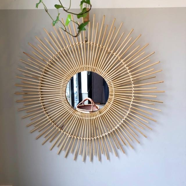 Bamboo Mirror バンブー壁掛けミラー φ60cm