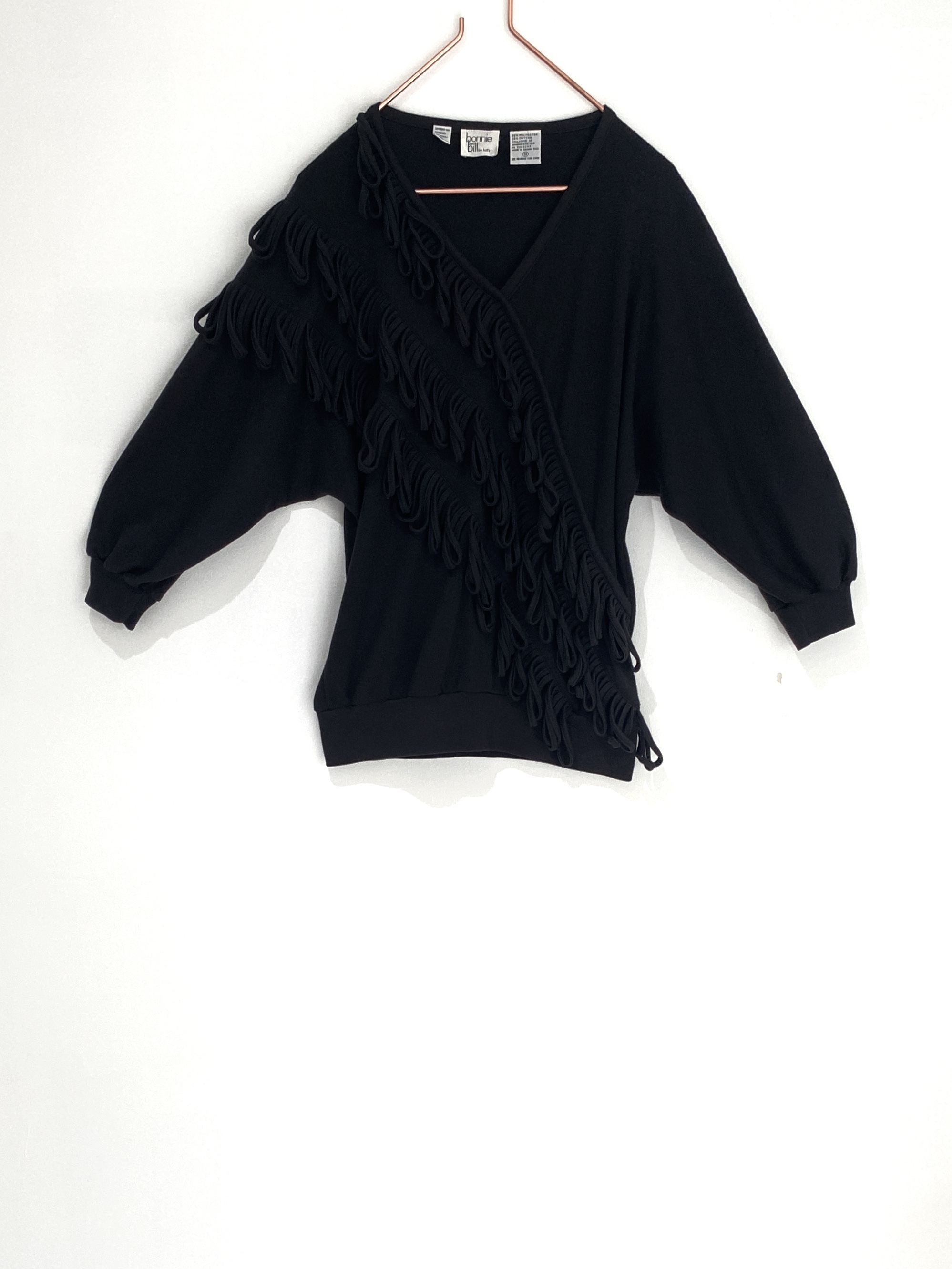 ◼︎80s vintage braid cotton blend tops from U.S.A.◼︎