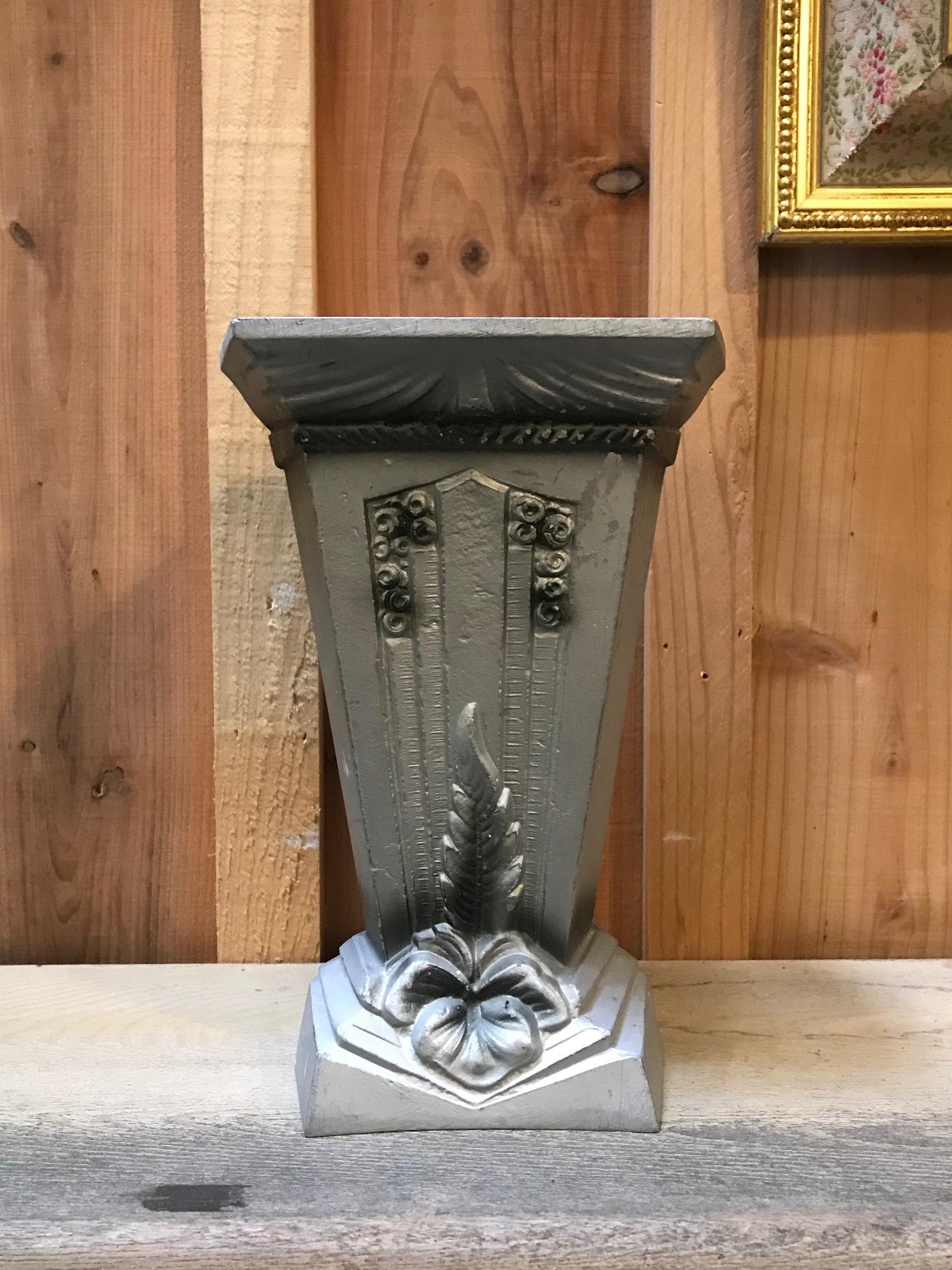 1920年代 フランスアンティーク 鉄製 花瓶 アールデコ A