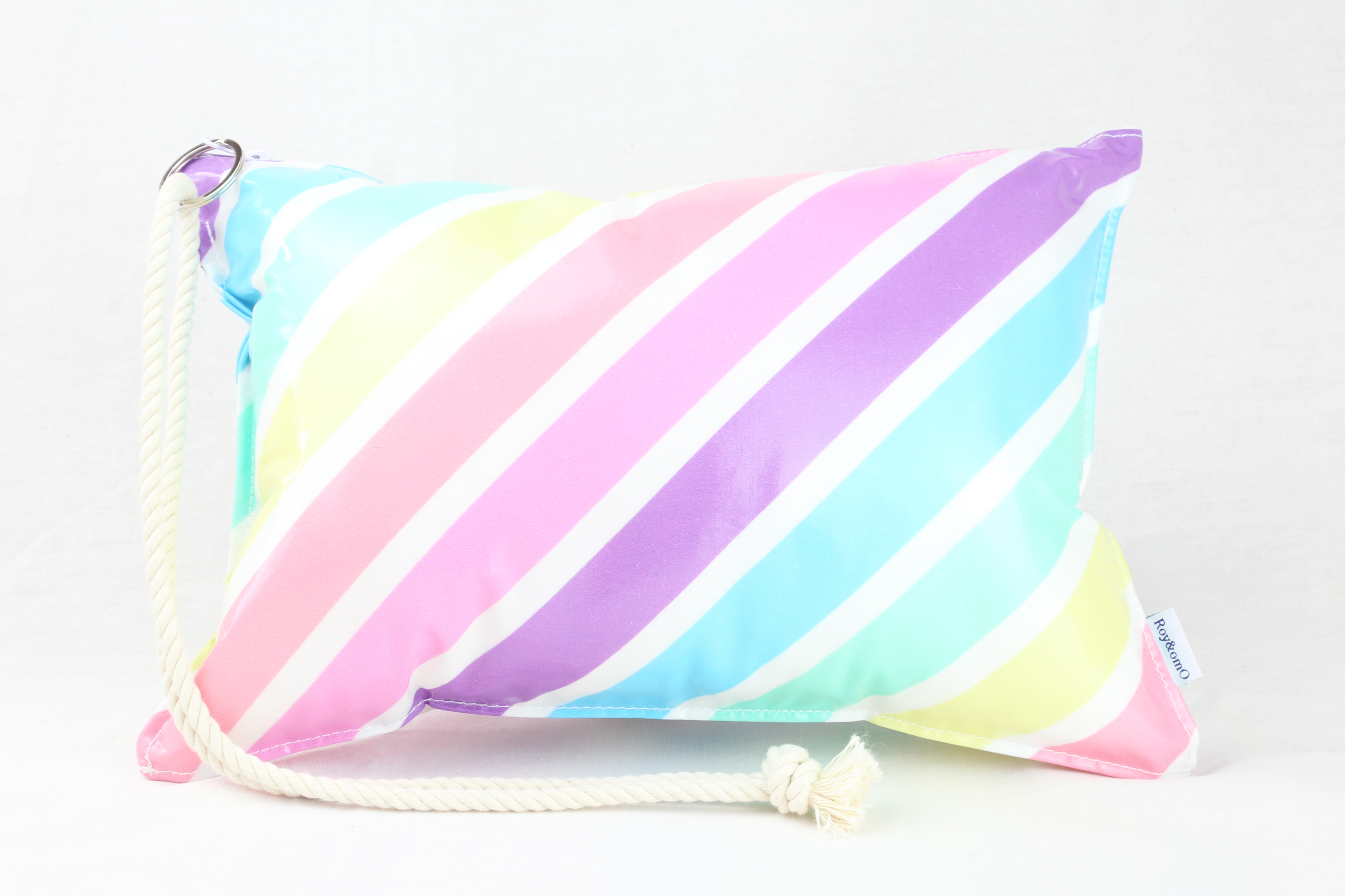 Pillow Bag (plumpillow purse)【Macaron Rainbow】まくら×ポーチ アウトドア
