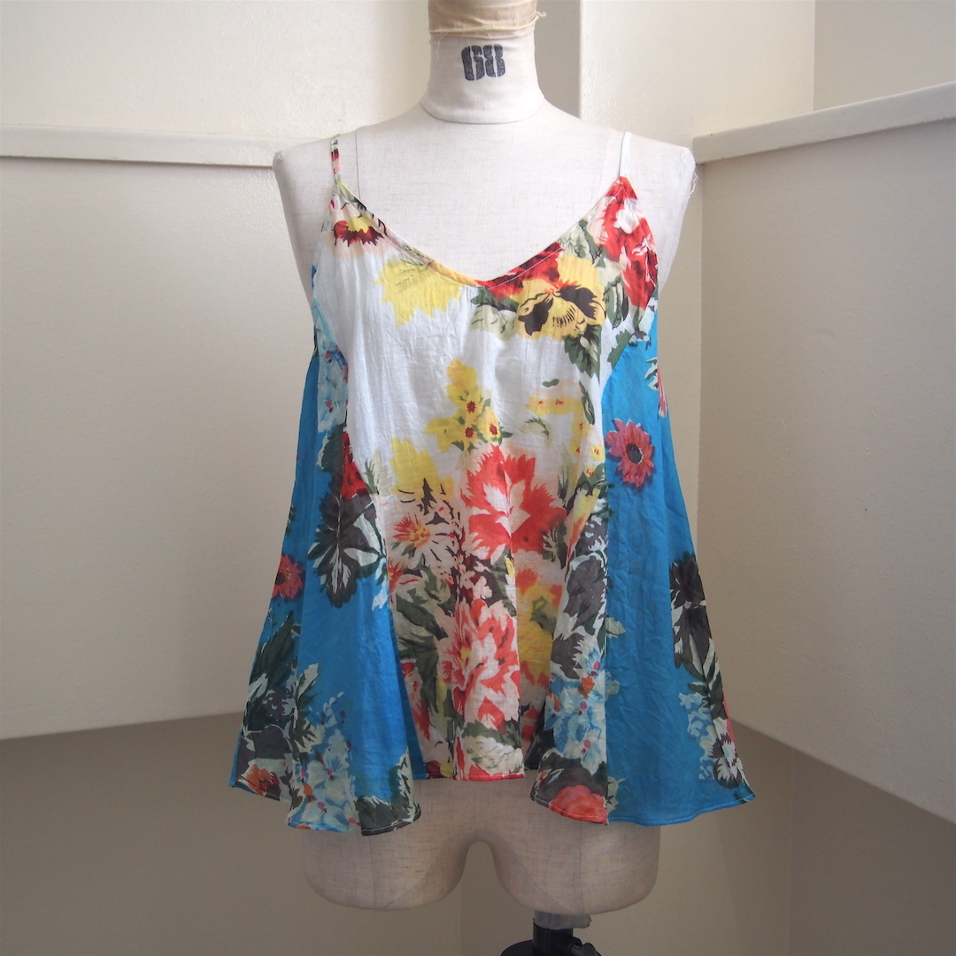 【ethical hippi】flower print camisole(E) / 【エシカル ヒッピ】フラワー プリント キャミソール(E)