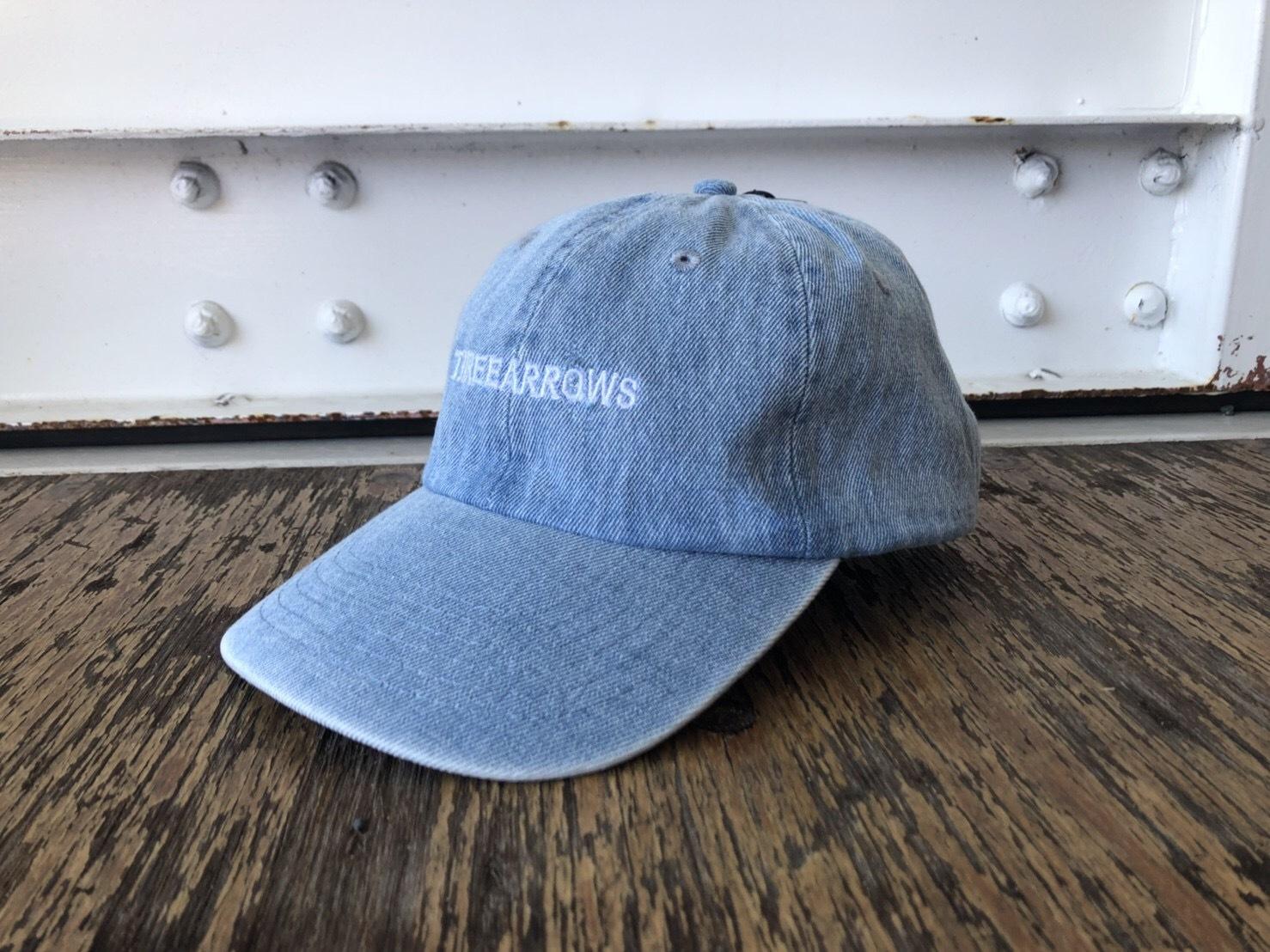 THREEARROWS刺繍CAP (light denim)