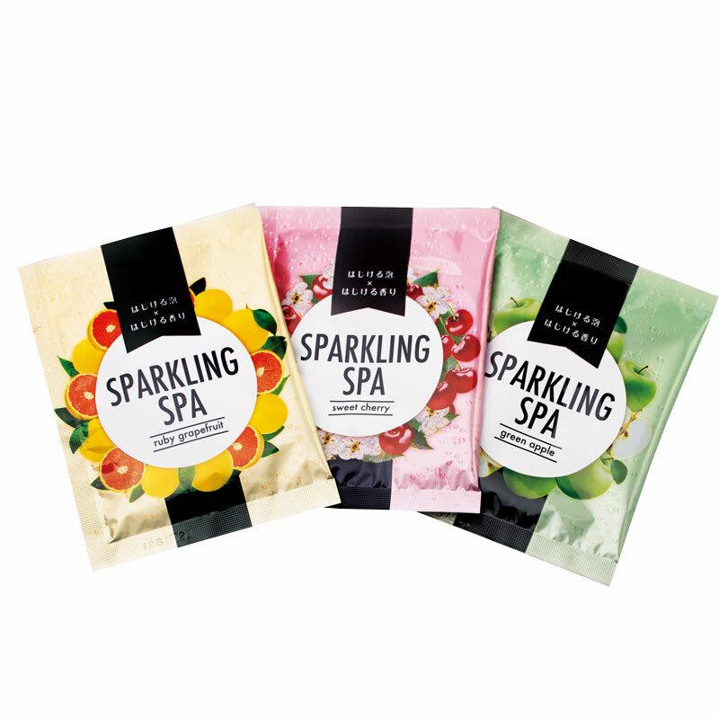 SPARKLING SPA お試しセット ルビ―グレープフルーツ スウィートチェリー グリーンアップル 各1包:1回分づつ