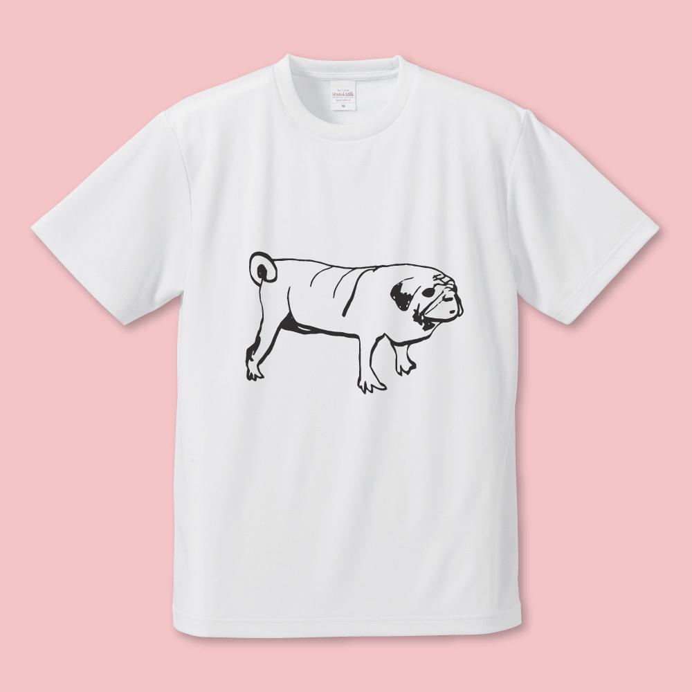 パグ飼ってます Tシャツ B (文字なし)