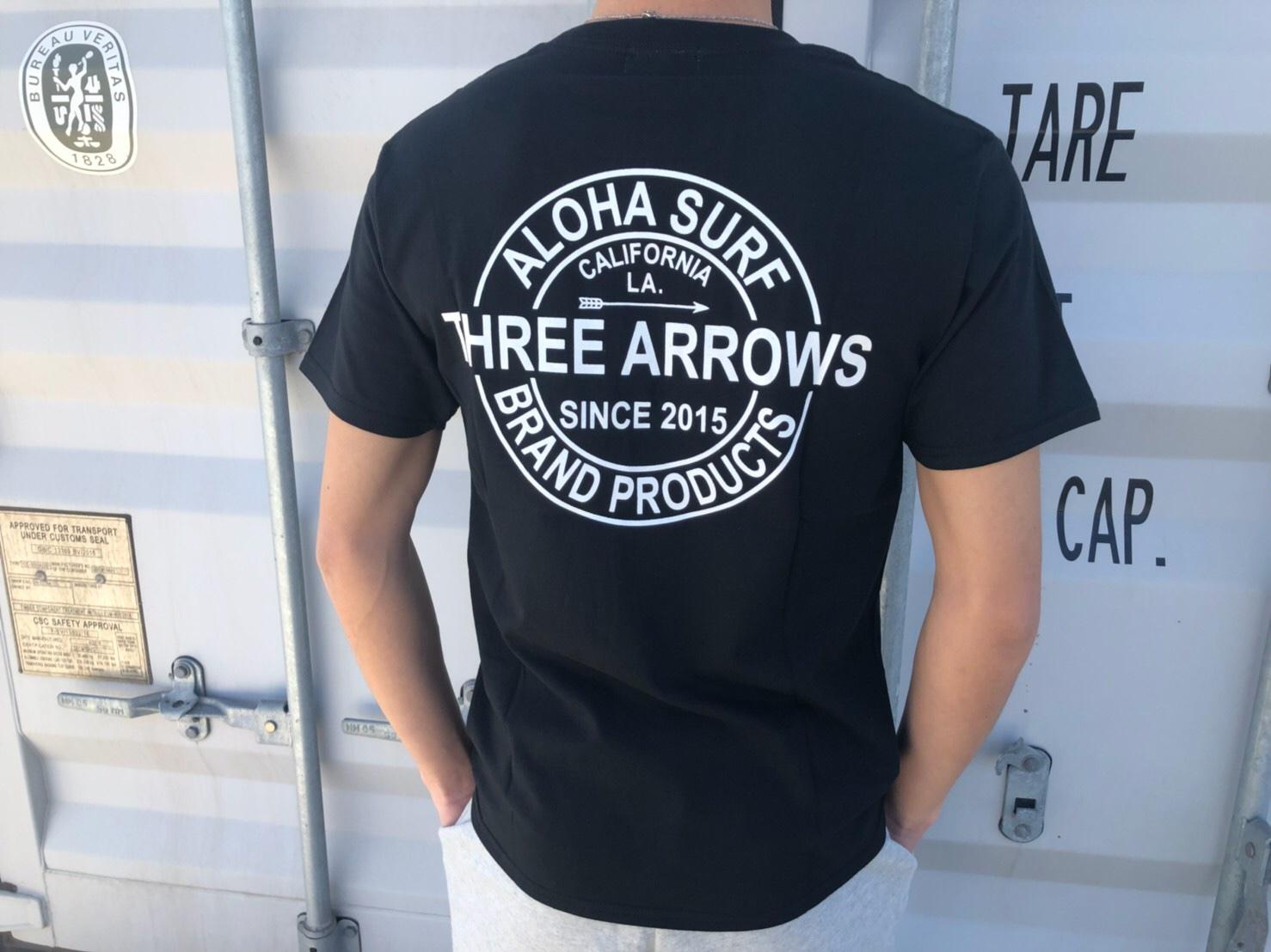 【Fine7月号掲載】ThreeArrows BP Tシャツ(black)