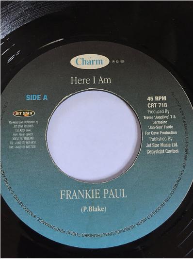 Frankie Paul(フランキーポール) - Here I Am【7'】