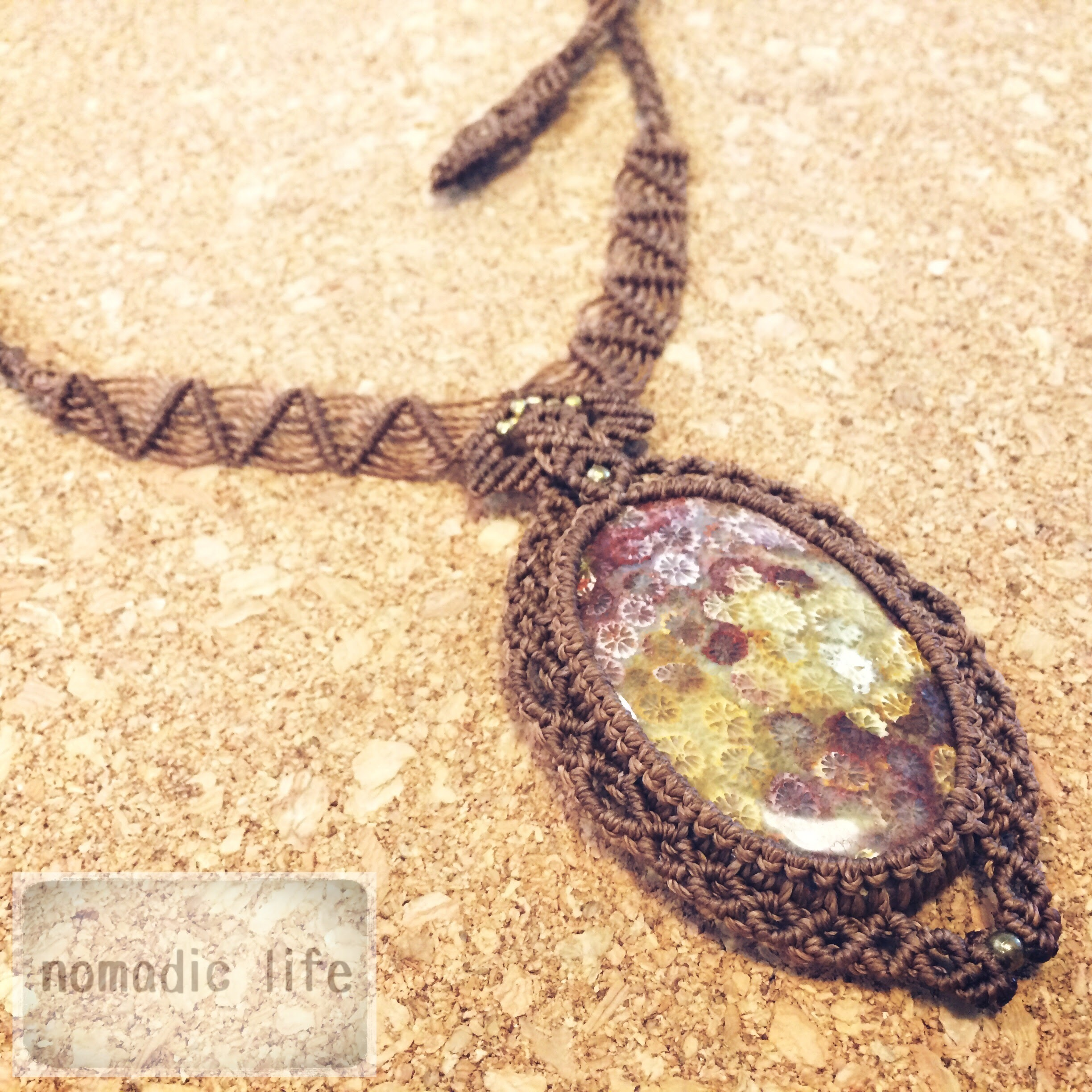 Fossil Coral Necklace//No.105