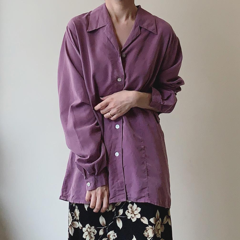 vintage open collar shirts