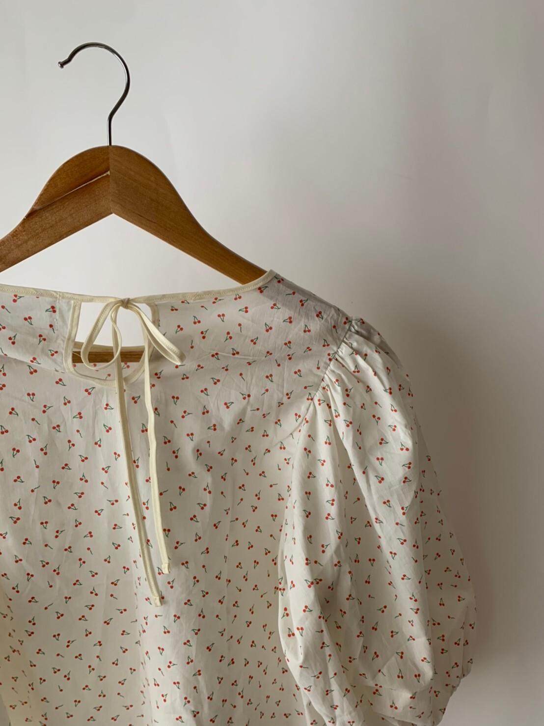 【asyu】otona cherry blouse