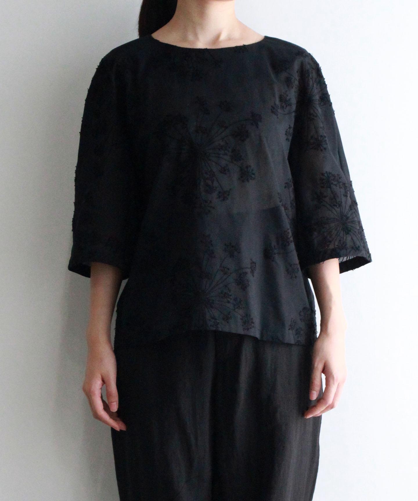 フェンネル刺繍プルオーバ(evi921 BLK・ブラック)