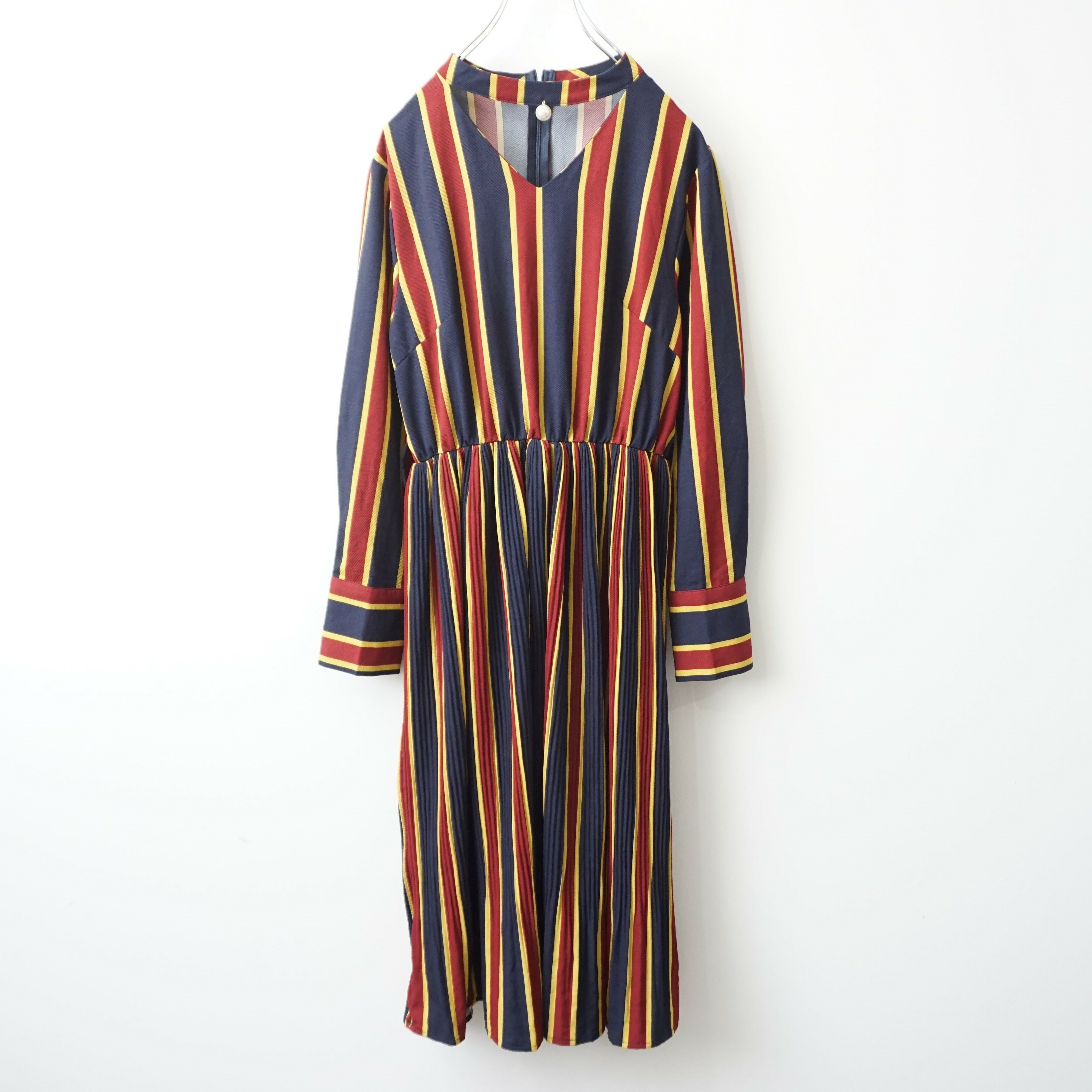 Retro stripe one-piece