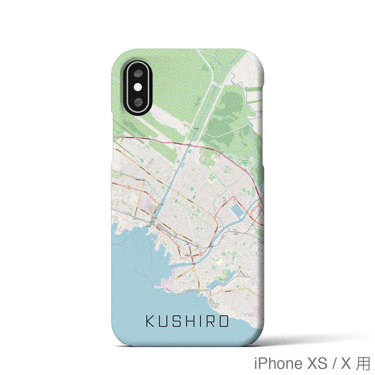 【釧路】地図柄iPhoneケース(バックカバータイプ・ナチュラル)
