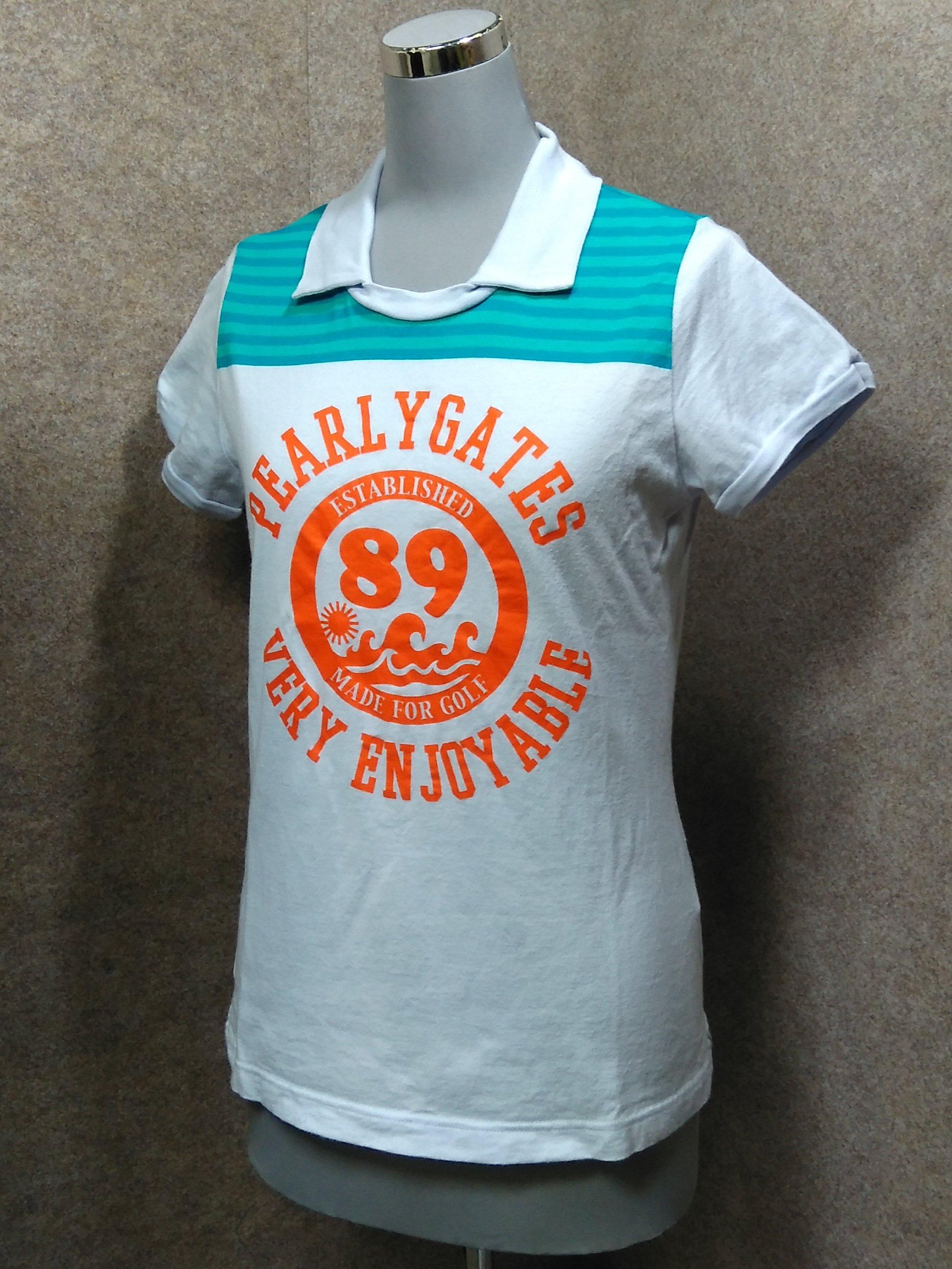 パーリーゲイツ レディース Tシャツ 襟付き 0 ライトグレー系 y1339j