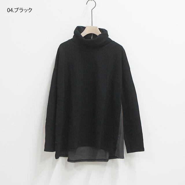 NARU ナル 天竺×布帛チェックタートル 【返品交換不可】 (品番634016)