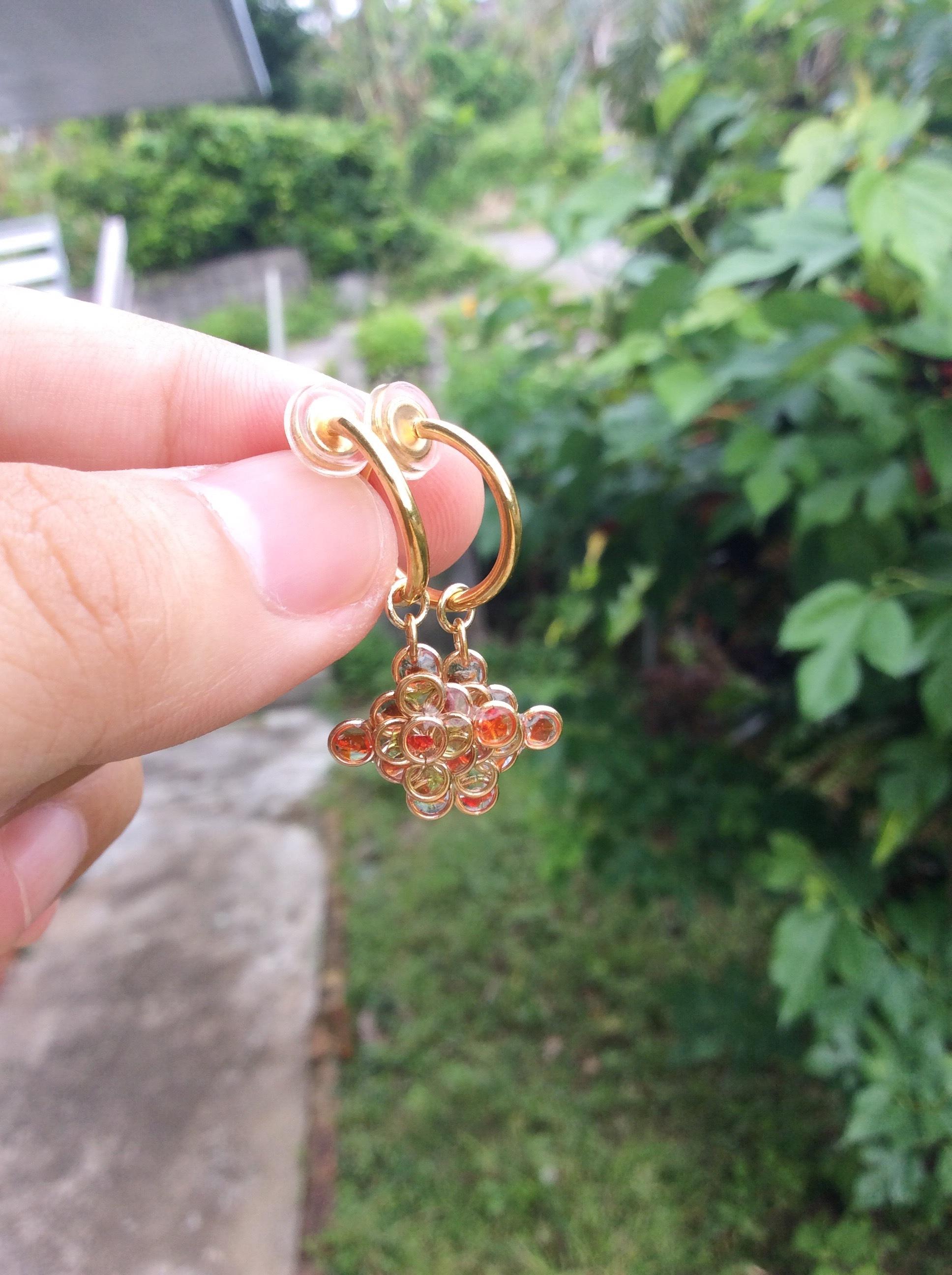重なり合い - ryukyuglass accessory-