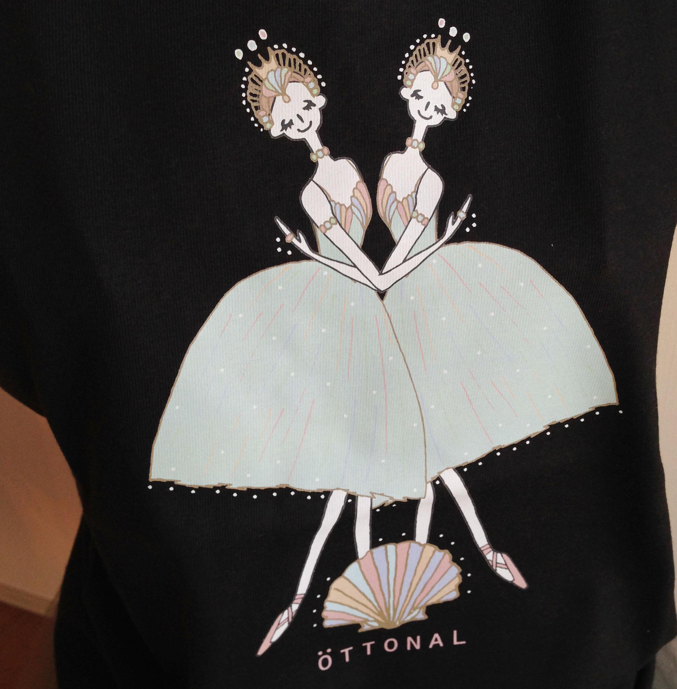 海と真珠 Tシャツ(レディース) - 画像2