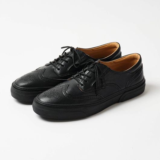 SLACK FOOTWEAR / KLAVE WING TIP ML (BLACK/BLACK)
