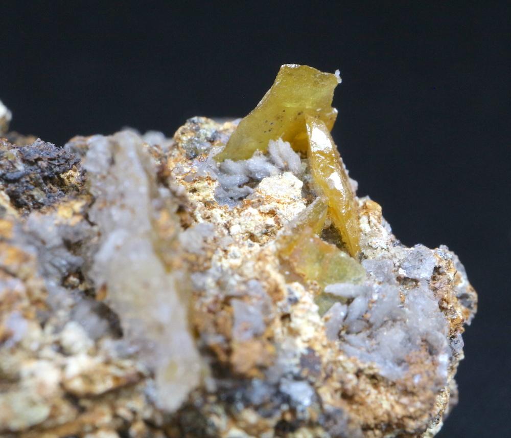 アリゾナ産 モリブデン鉛鉱  Wulfenite 44g WF012 天然石 鉱物 標本 原石