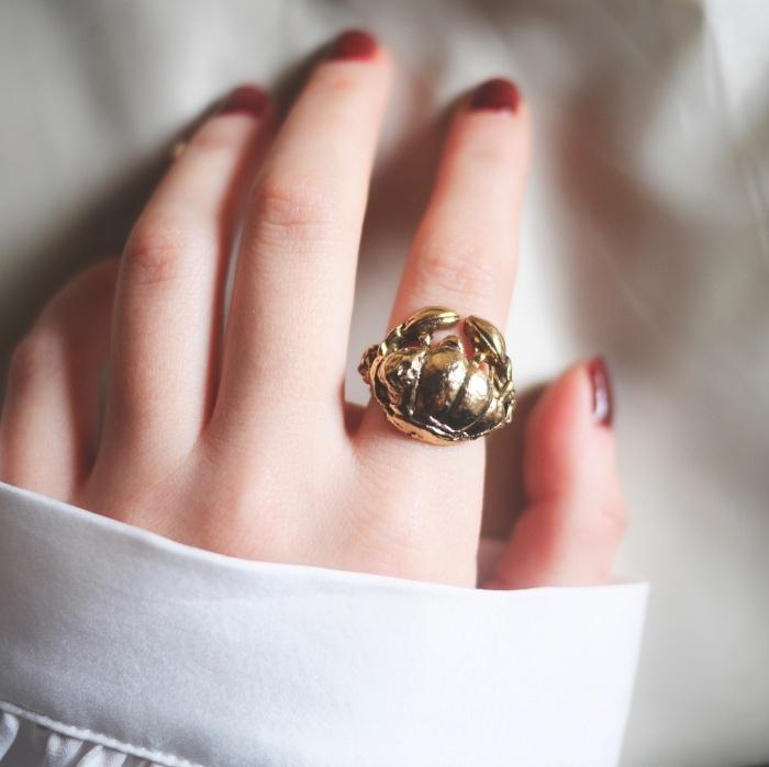 12星座 かに座(キャンサー) 70s ヴィンテージリング(指輪)フリーサイズ Vintage ring