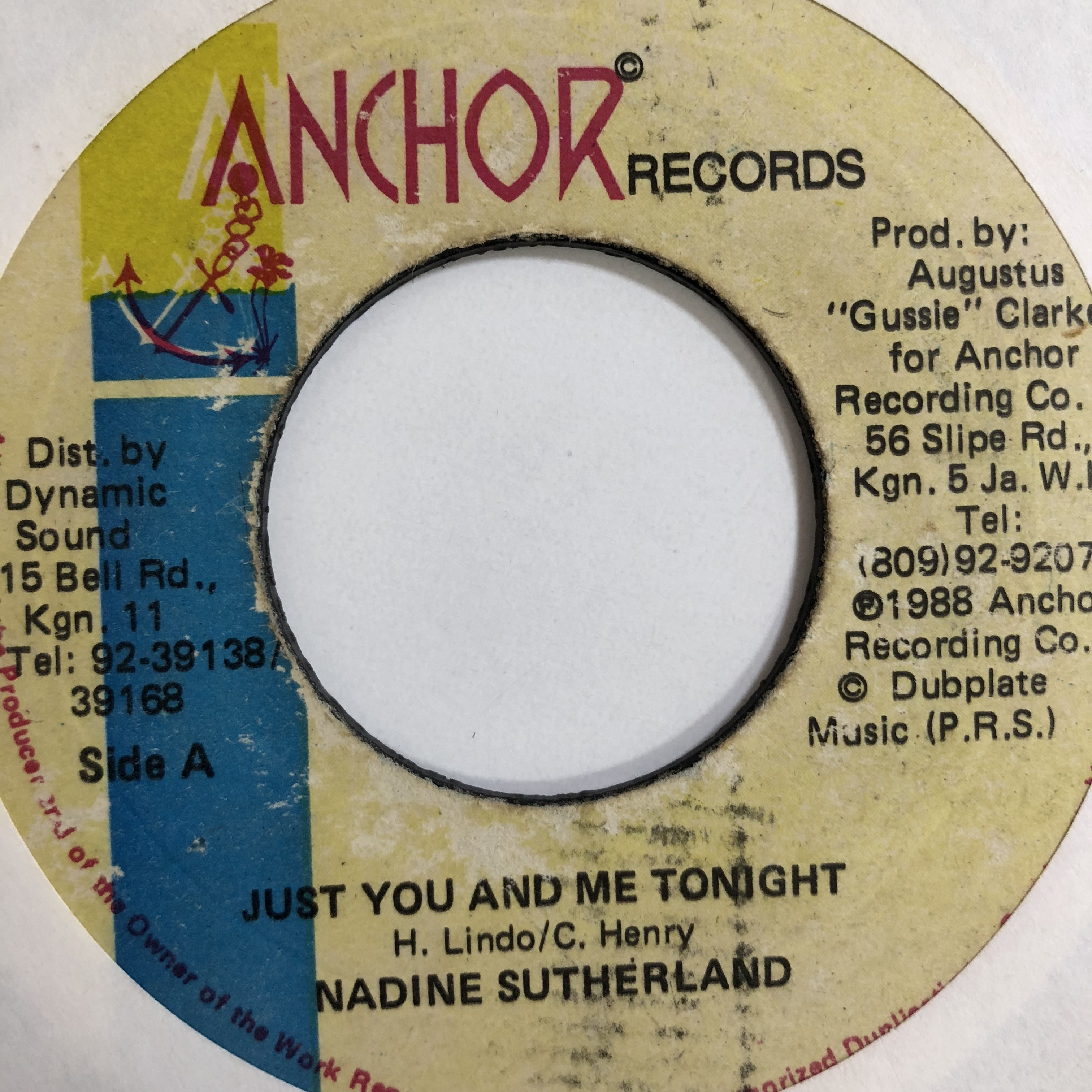 Nadine Sutherland(ナディーンスザーランド) - Just You And Me Tonight【7'】
