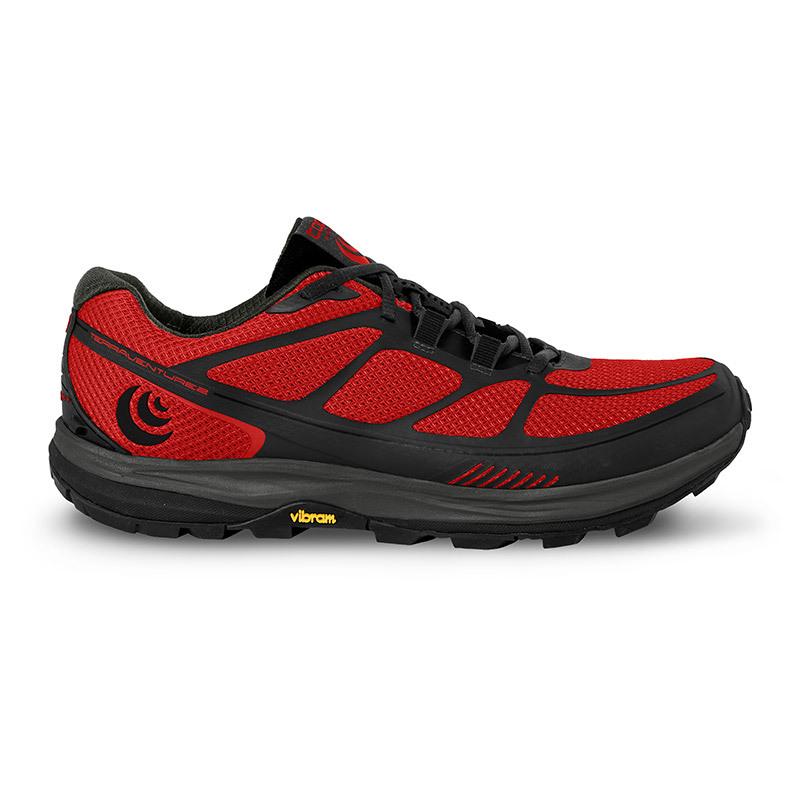 TOPO Athletic トポ MEN'S TRAIL TERRAVENTURE 2 メンズ トレイルランニングシューズ テラベンチャー2 10 Red/Black(レッド/ブラック) 5002041