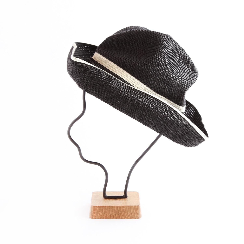 mature ha./BOXED HAT 101SW black×white