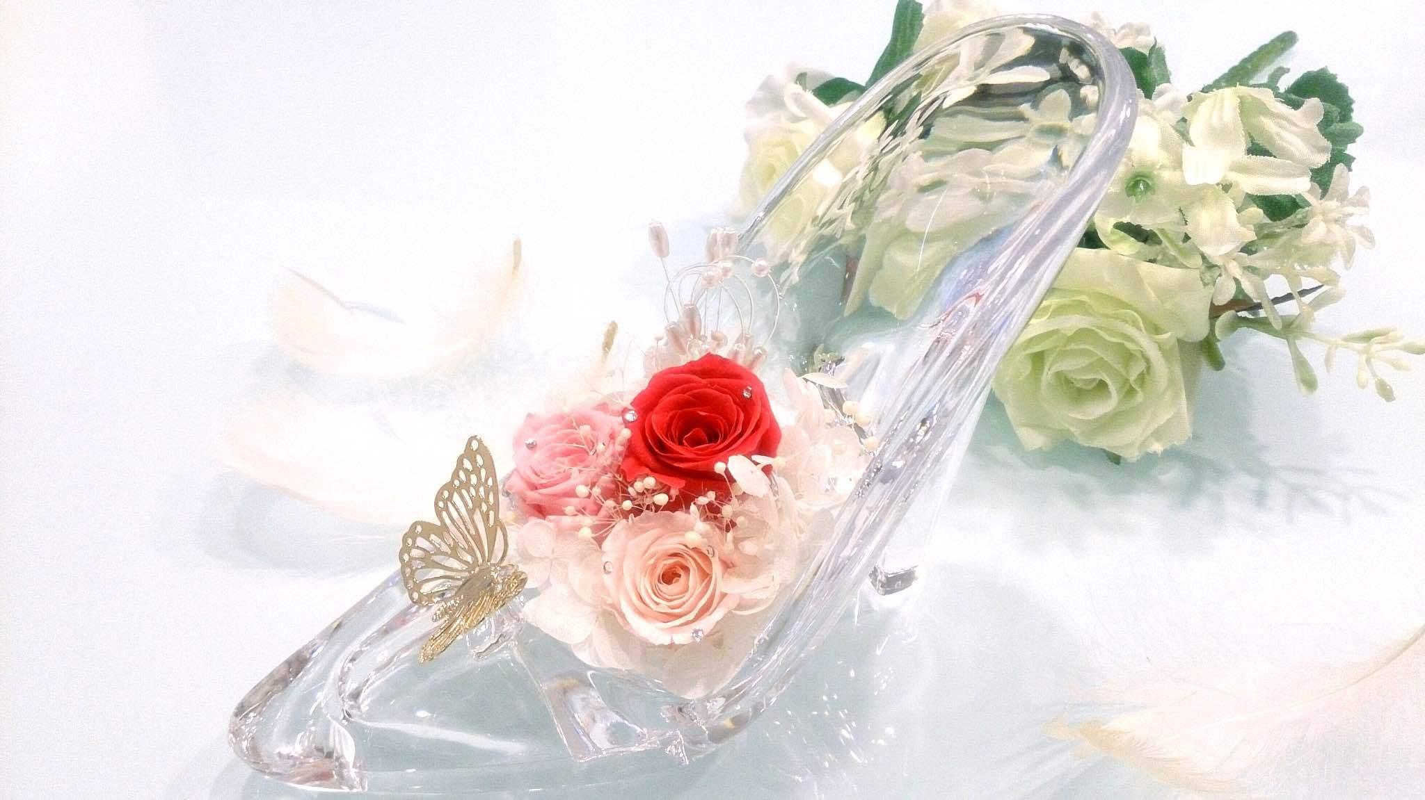 キラキラシンデレラ靴 ピンク プレゼント