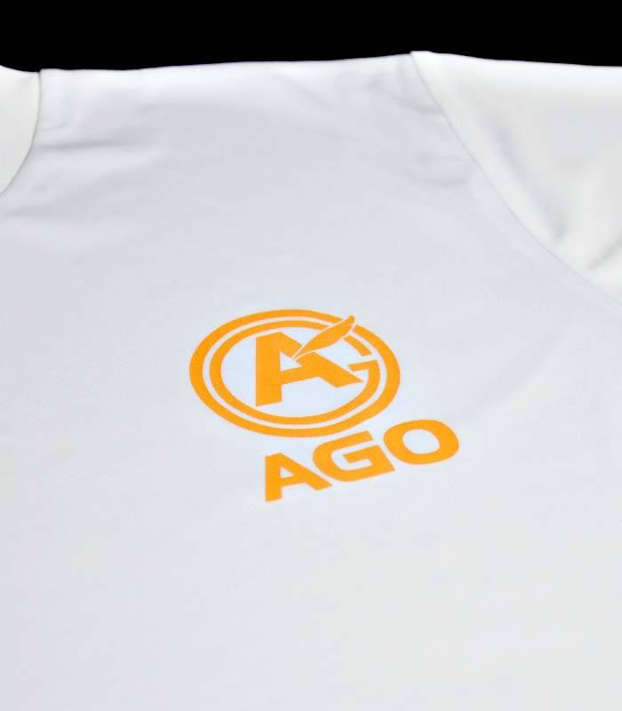 AGOロゴプリント オリジナルドライTシャツ white - 画像3