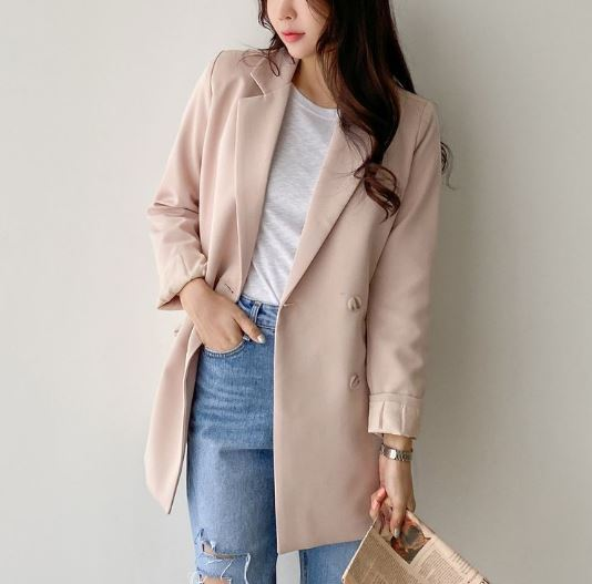 【送料無料】 春の大人コーデに♡ 大人可愛い フェミニン テーラード ジャケット ダブルボタン スプリングコート