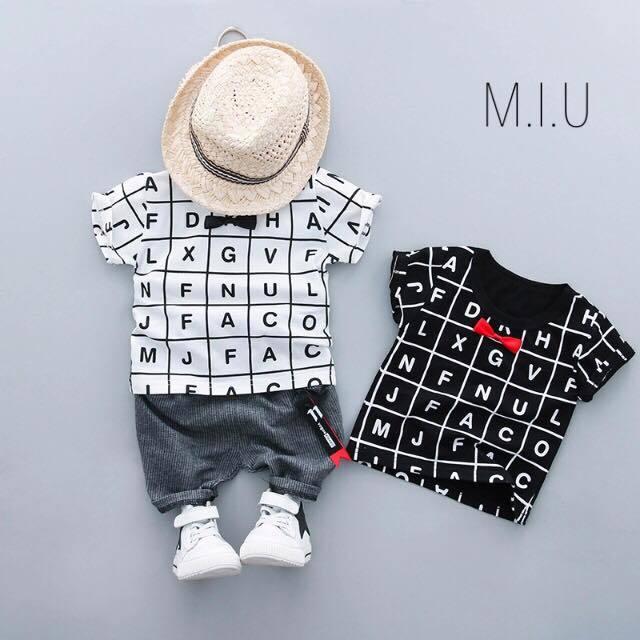 レターTシャツ上下セット #MIU574