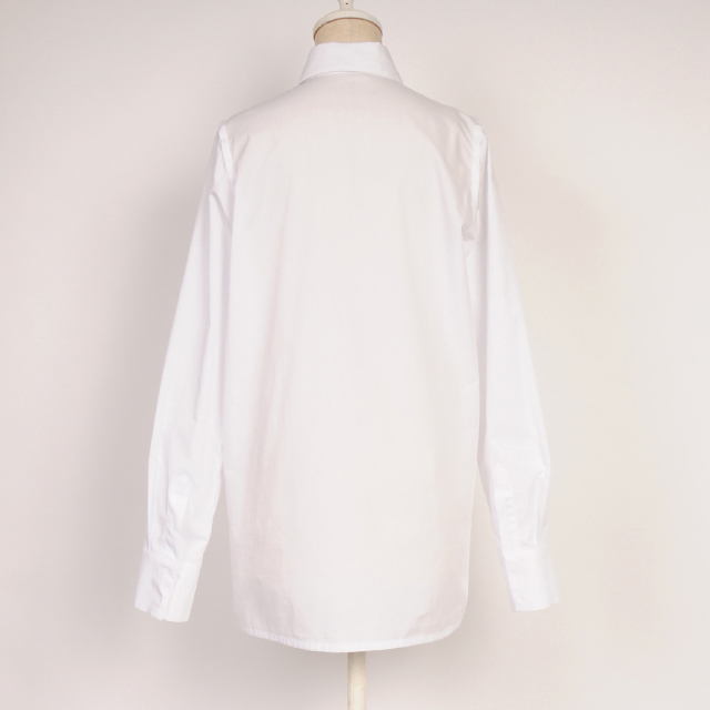 hs18WT-IR01 CLOTH BASIC SHIRT(white)