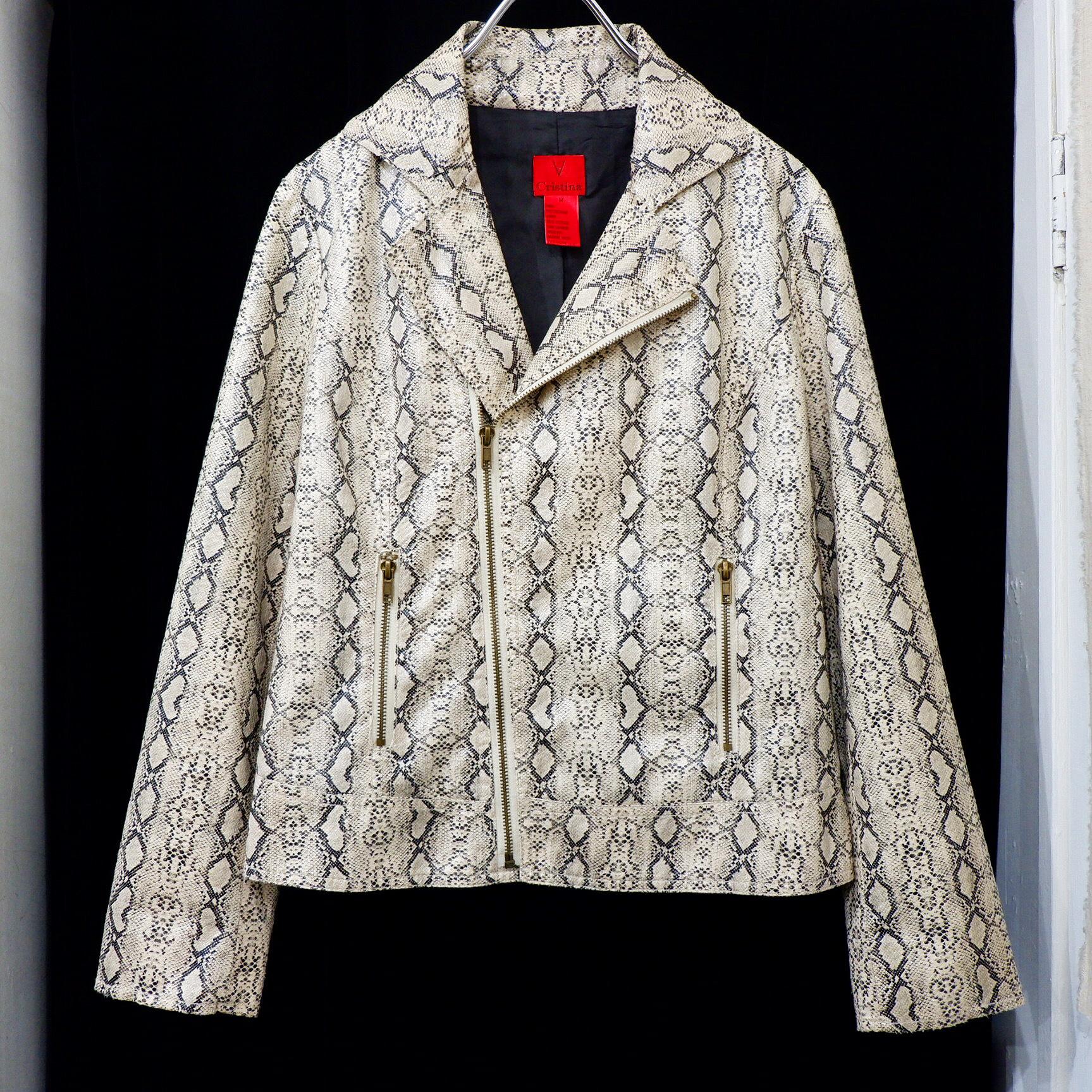 【Ladies】アメリカ古着 パイソン PVC ジャケット