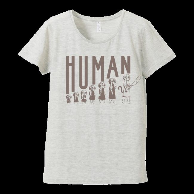 ピノキオピー 人間が着るやつTシャツ(レディース / オートミール) - 画像1