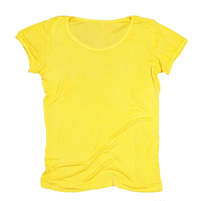 【30%0FF ¥8,100→¥5,670】マリーゴールド染めシルク100%半袖カットソー~黄檗色(きはだいろ)~