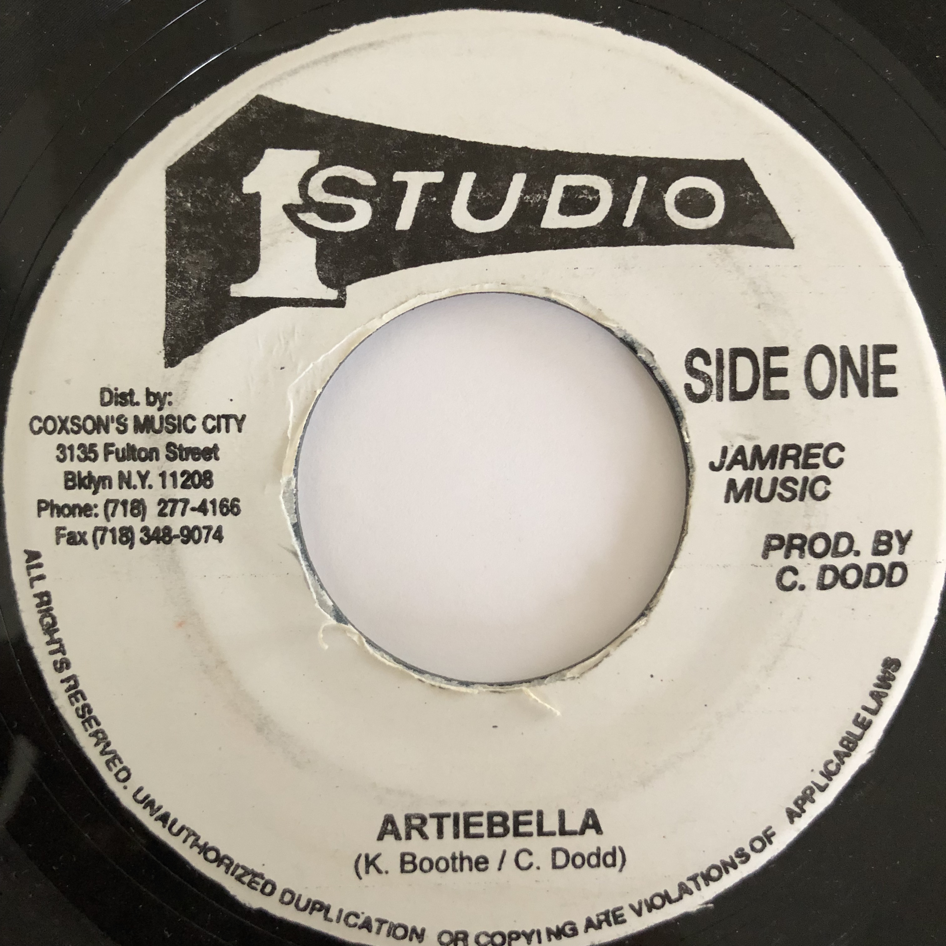 Ken Boothe(ケンブース) - Artibella【7-20033】