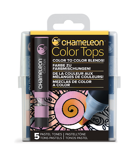 Chameleon Pen 5 Color Tops Pastel Set (カメレオンペン 5本入りカラートップ パステルセット)