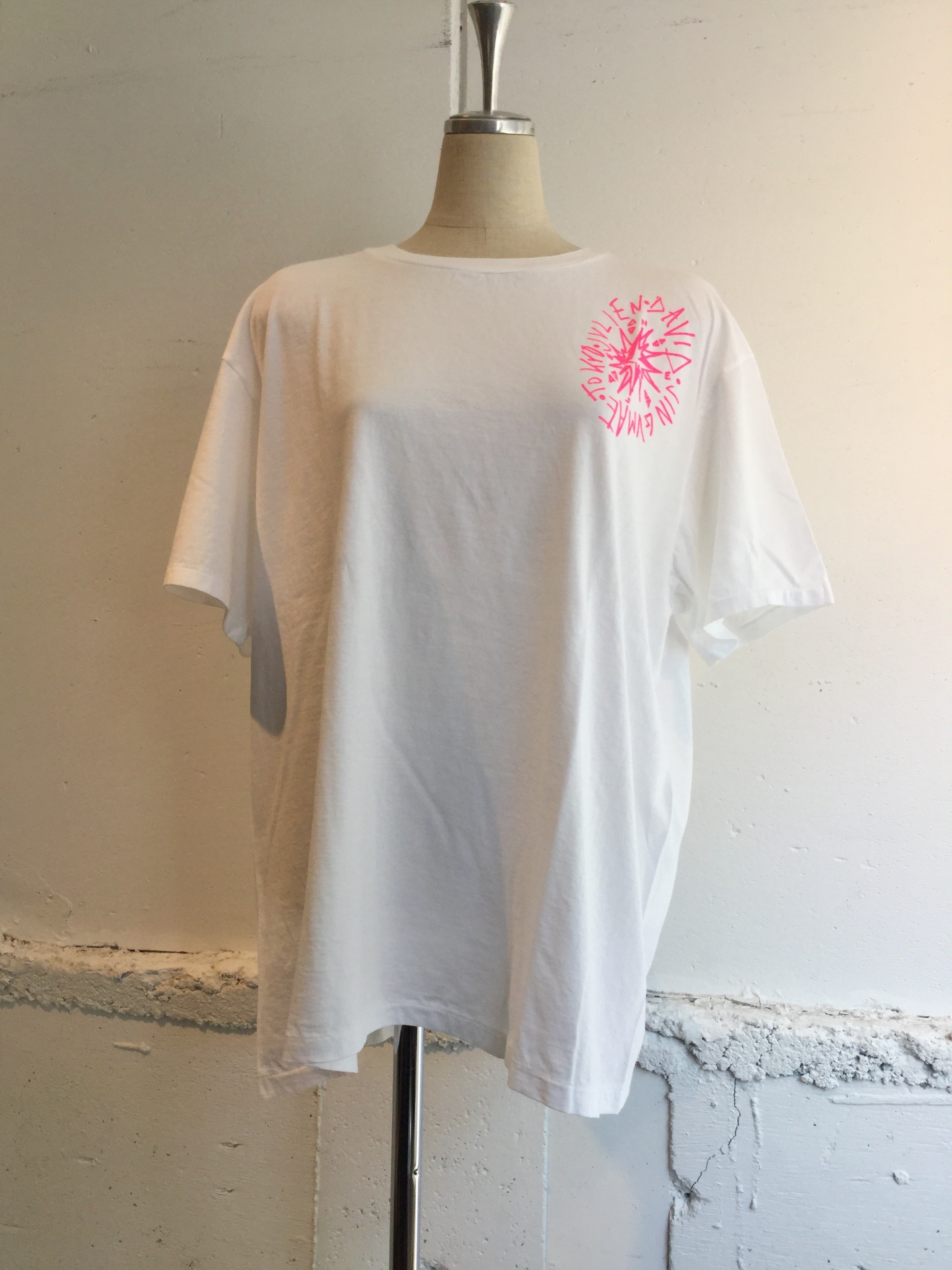 JULIEN DAVID Printed T-shirt COMPASS (WHITE)